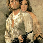 Romancing the Stone starring Michael Douglas and Kathleen Turner